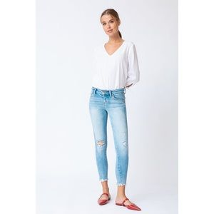 Kancan Light Wash Distressed Jeans NWT